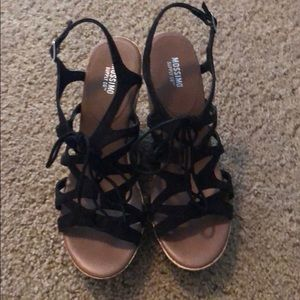 Mossimo Black Wedges Sz: 8.5